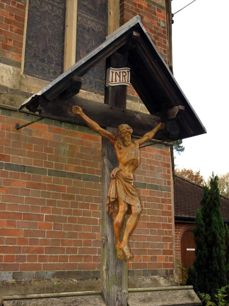 Cold Ash War Memorial Restoration - Christ Figure