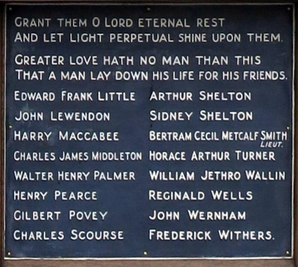 Cold Ash War Memorial Plaque