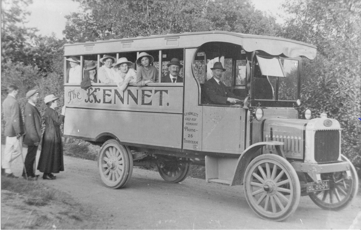 G.P. Howlett's bus courtesy of E.A. Stacey.