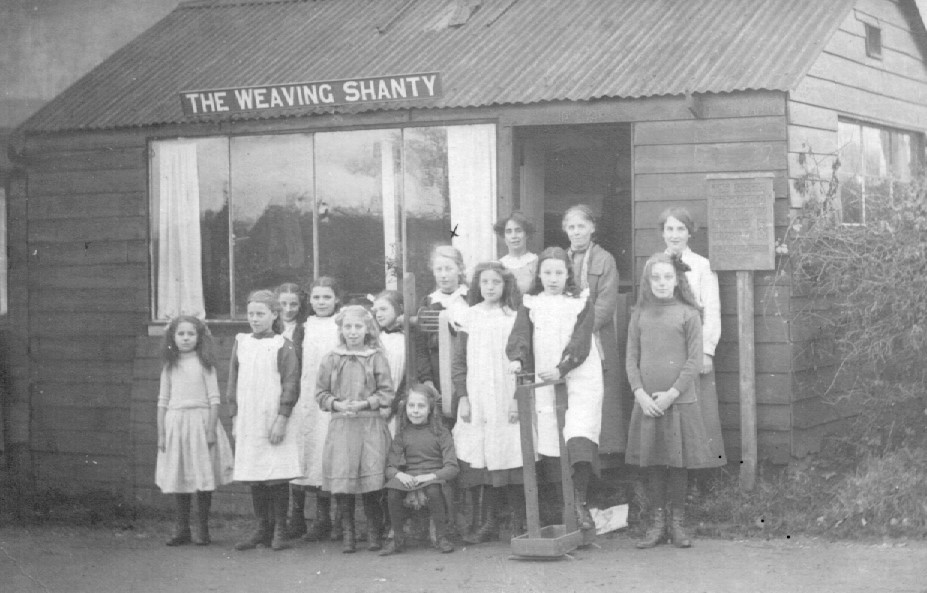 Cold Ash Weaving Shanty was situated where the house Stockenden is today, courtesy of E.A. Stacey.