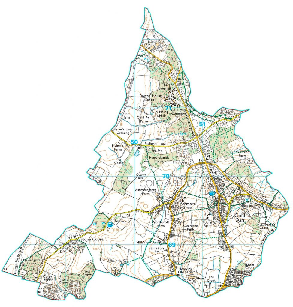 Cold Ash Parish Map
