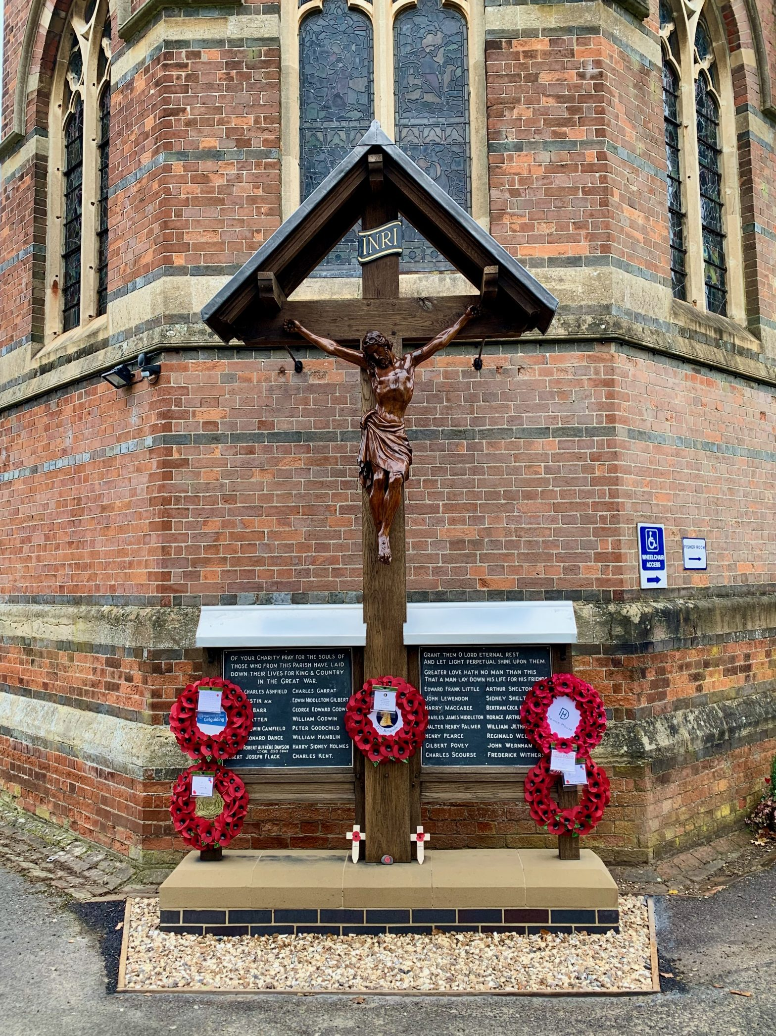 War Memorial. St. Marks Church. Remembrance Day 2020